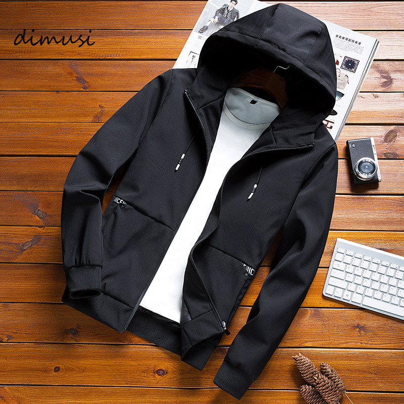 DIMUSI Men's  Bomber Jackets Fashion Mens Harajuku Hip Hop Street Anorak Wear Jackets Men Casual Hooded Tracksuit  Coats,YA826