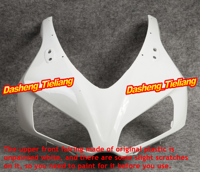 Unpainted Upper Front Fairing Cowl Nose for Honda 2006 2007 CBR1000RR ABS Plastic abs unpainted upper front fairing cowl nose for suzuki gsxr600 gsxr 750 2006 2007