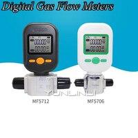 Gas Flow Meter Compressed Air Oxygen Nitrogen Flow Meter Digital Gas Flow Meters MF 5706 10