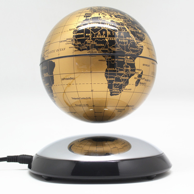 6 Inch Creative Magnetic Levitation Floating Globe World Map the Best Desktop Decor Christmas Company anniversary gift