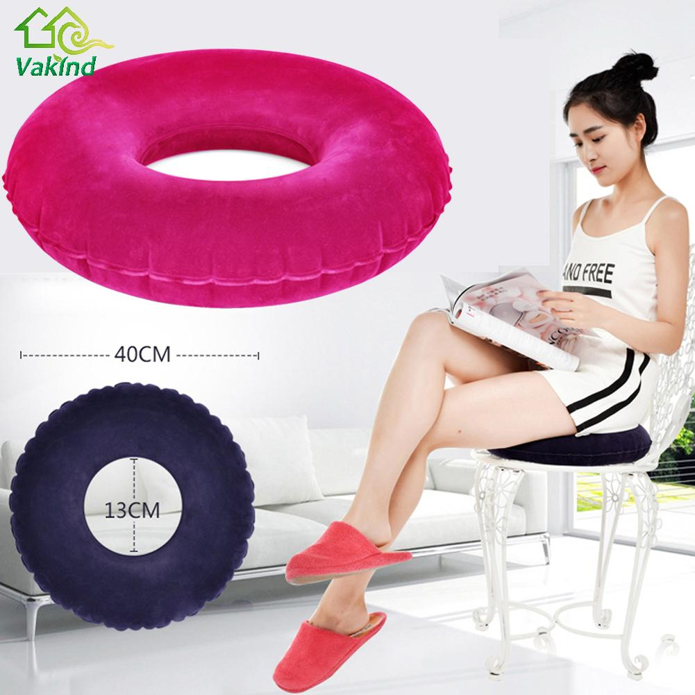 New Inflatable Round Cushion Vinyl Seat Cushion Medical Hemorrhoid Pillow Sitting Donut Massage Pillow High Quality