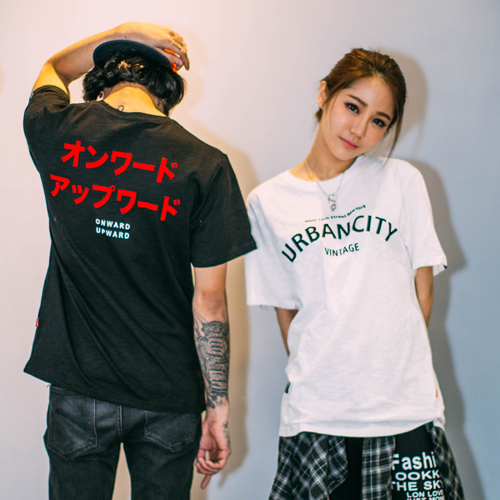 Summer Original street Trend Japanese English font Letter print Harajuku  style city casual men and women t-shirt Free shipping 4e77d82998