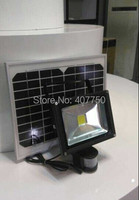 Free Shipping To North America Solar Power Rechargeable 30W Led Flood Light Ip65 Body Induction Led