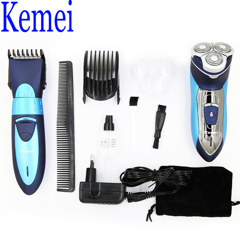 Kemei KM-7392 Professional Hair Clipper Men's Care Styling Tools Value Pack Including 1 Rechargeable Razor Shaving 100V-240V 3W