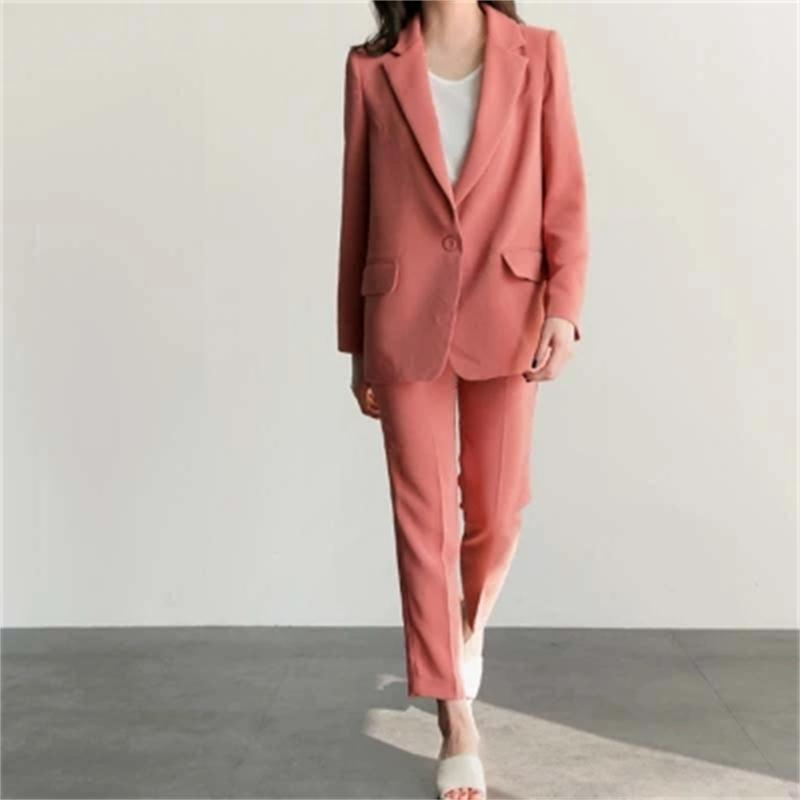 Small suit suit female OL wind spring New autumn loose casual suit jacket + nine pants two sets of office suit women