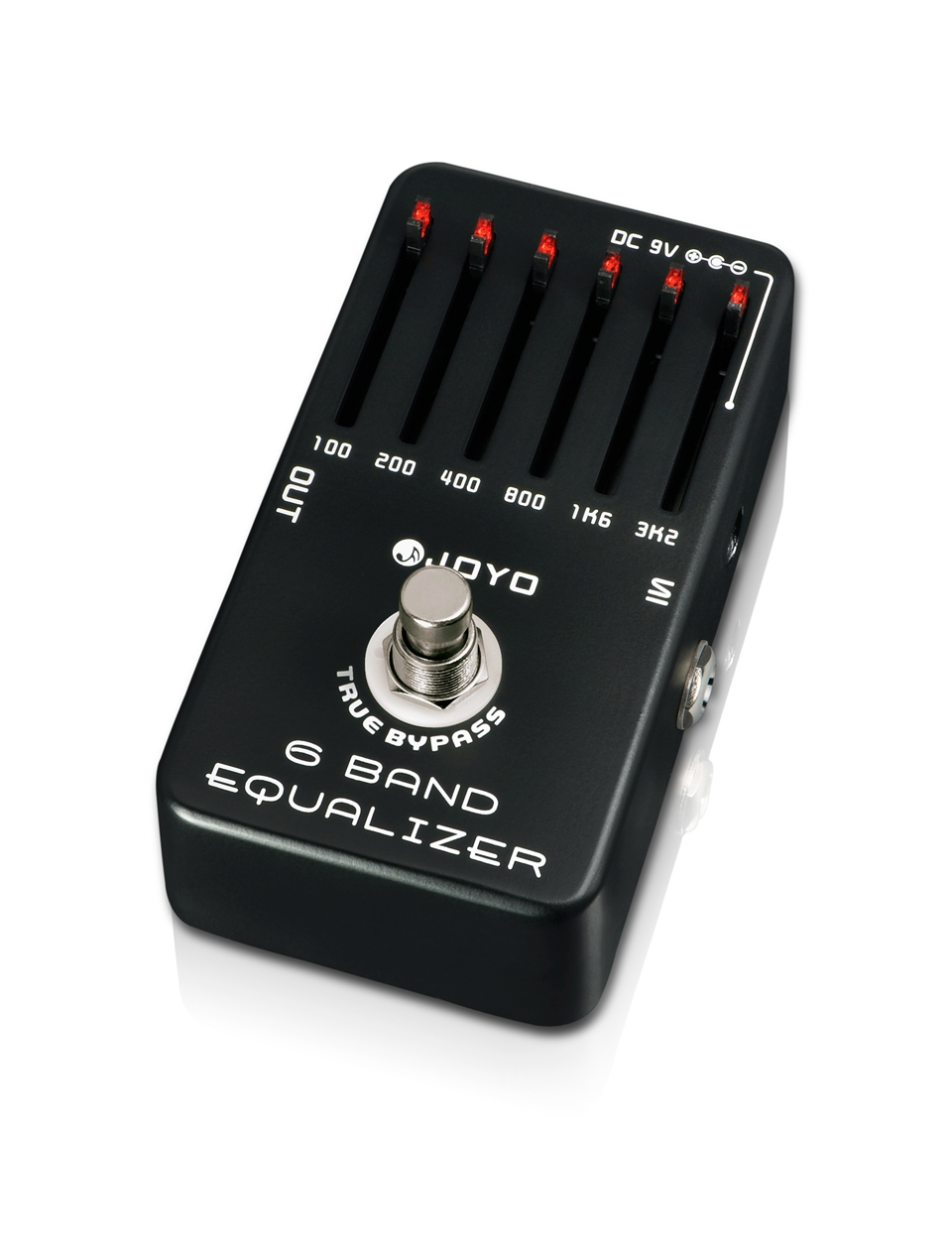 JOYO 6 Band Guitar EQ Pedal Equalizer Adjust Low Middle High Frequency A Range Of 36dB Adjustment Each Band Free Shipping free shipping 5pcs eq ed eq in stock