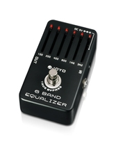 JOYO 6 Band Guitar EQ Pedal Equalizer Adjust Low Middle High Frequency A Range Of 36dB Adjustment Each Band Free Shipping