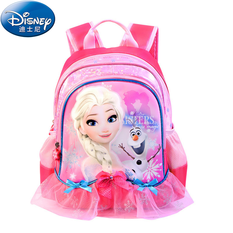 Disney 2018 Frozen Princess School Bags Protect the Spine Backpacks Fashion Schoolbag Kids Backpack Preschool Bags for Girls preschool programs for the disadvantaged