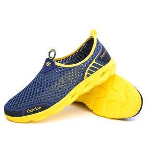 Image 5 - Männer Casual Schuhe 2019 Sommer Mode herren Schuhe Mode Atmungs Slip Auf Mesh Schuhe Weiche Komfortable Größe 45