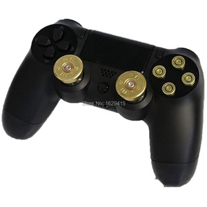 Image 5 - IVYUEEN Gold 9mm Bullet Brass Button Aluminium Action Buttons Kit For Sony Dualshock 4 PS4 Pro Slim Controller Accessories