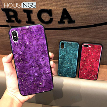 Glitter Marble Phone Case For iPhone 7 8 Plus XR Luxury Colorful X XS MAX Fashion Gold Foil 6 6s Cover