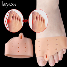Leyou/1 пара силиконовых гелевых разделителей пальцев ног, гелевых подушечек для передней части стопы, защита от вальгусной деформации большого пальца, корректирующие накладки для пальцев ног