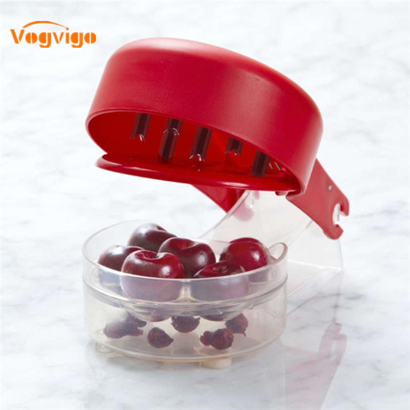 VOGVIGO Cherry Pitter Remover Machine Seed Stone Remover Fruit Core Seed Remover Fruit Cherry Pitters Corer Kitchen Accessories