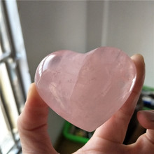 natural rose quartz crystal heart for home decoration healing crystals wedding decoration christmas decor