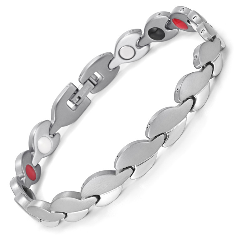 Brand Design Fashion Health Energy Bracelet Bangle Men 316L Stainless Steel 4 in 1 Bio Magnetic Bracelets Jewelry