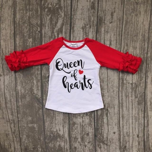 Baby Valentines Day Raglans Children Girls Heart Raglans Queen Is Hearts Top Raglans Boutique Fall Top