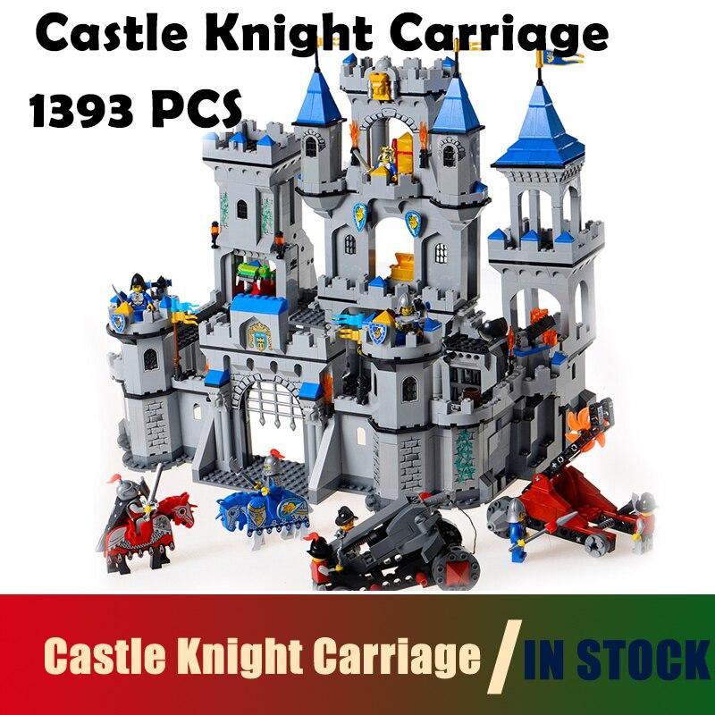 цена Compatible With Lego Model building block set Enlighten 1023 Medieval Lion Castle Knight Carriage Model Bricks Toys for Children онлайн в 2017 году