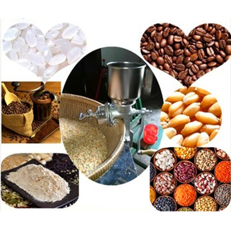 Grain grinder coffee soybean crushing milling machine maize grinding mill price ZF corn flour mill rice milling machine home use manual pepper soybean wheat coffee bean grinder grinding machine zf