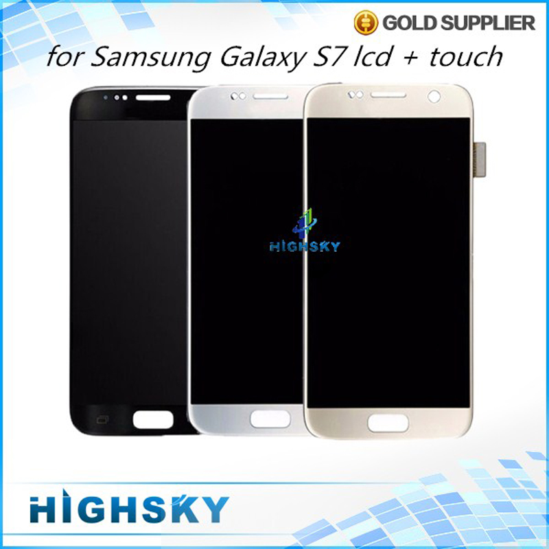5 Pcs/lot New Test Display For Samsung Galaxy S7 SM-G930 LCD With Touch Screen Digitizer Assembly AAA Qualtiy Free DHL EMS