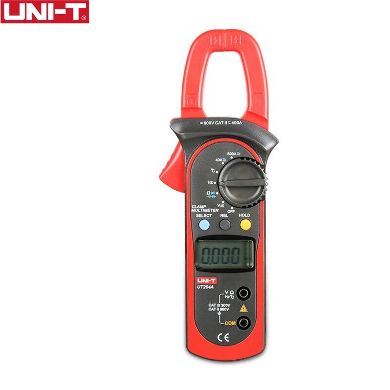 Dynamisch Uni-t Ut204a 600a Ac Dc Digital Clamp Meter Mit Temperatur Test Auto Range 600 V Spannung Kontinuität Summer