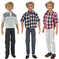 E-TING 3 Компл. Мода Повседневная Одежда Рубашка + Брюки Для Boyfriend Кен Куклы Barbie S