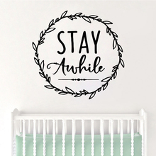 Cartoon Style stay auhile Wall Decal Living Room Removable Mural For Bedroom Vinyl vinilo decorativo