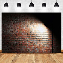NeoBack Brick Wall Backdrop Night Street light Photography Background Retro Literary Backdrops Studio Shoots