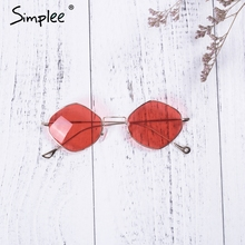 Trendy Rimless Women Sunglasses