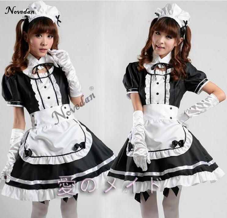 Sexy Costume Da Cameriera Francese Dolce Gothic Lolita Dress Anime Cosplay Sissy Maid Uniforme Plus Size Costumi di Halloween Per Le Donne