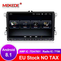 MEKEDE free shipping Android 8.1 Car GPS navigation DVD player For golf 4 golf 5 6 touran passat B6 caddy transporter t5 polo