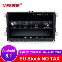 MEKEDE Бесплатная доставка Android 8,1 Автомобильный gps навигатор dvd-плеер для гольфа 4 golf 5 6 touran passat B6 caddy transporter t5 polo