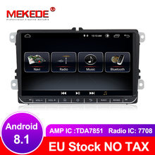 MEKEDE free shipping Android 8.1 Car GPS navigation DVD player For golf 4 golf 5 6 touran passat B6 caddy transporter t5 polo(China)