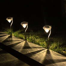 4 pcs Walk way light Diamond style Garden Stake Lights Color Changing LED Lawn light Outdoor Waterproof  Solar Garden light недорого