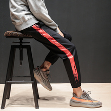 High Quality Joggers Casual Sweatpants Elastic Waist Baseball Pants Mens Brand Letter Printed Stripe Autumn Men Sportes Trousers
