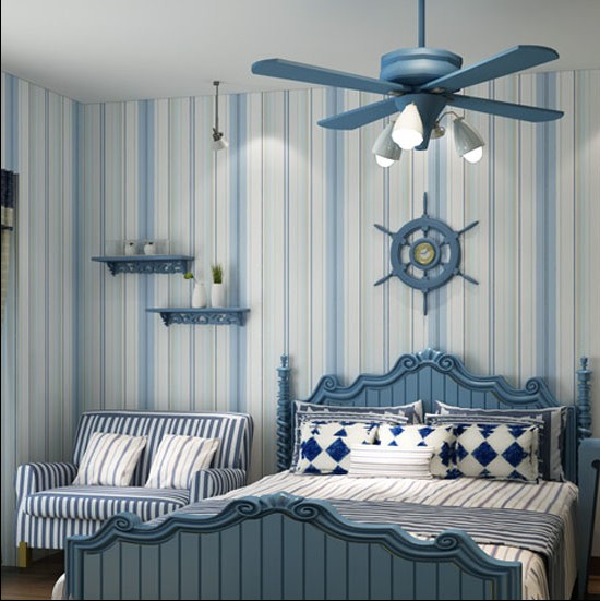 Modern Blue And White Bedroom new 2016 hot sell sitting room sofa bedroom wallpaper blue