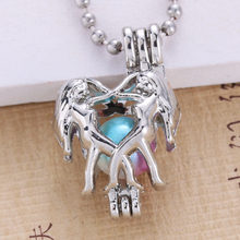 6pcs Bright Silver Gemini ออกแบบ Hollow (China)