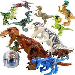 Figuras de ladrillos del mundo de Triceratops del parque de dinosaurios Jurásico figuras de ladrillos del mundo Marvel bloques de construcción de juguetes de diseñador para regalos de niños