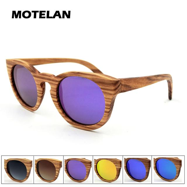 Zebra óculos de sol de madeira com lente polarizada Natural listrado Zebrawood óculos de sol 2016 New Cat Eye estilo Womens moda Eyewear
