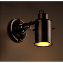 Loft Vintage Wall Lamp Industrial Style LED Spot light Black Iron Mounted Wall Light Sportlights for Hotel Corridor Aisle Bar antique rustic iron waterproof outdoor wall lamp vintage kerosene lantern light rusty matte black corridor hallway wall light