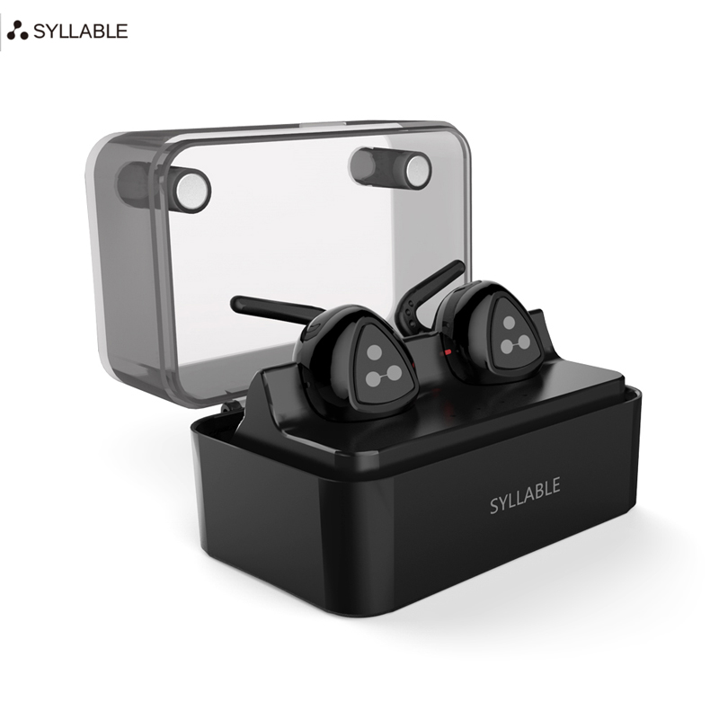 Original Syllable D900S MINI Super Stereo Bluetooth Earphone Headset Wireless in-Ear Music Earbuds with Charge Box for iPhone 7