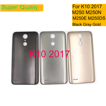10Pcs/lot For LG K10 2017 M250 LG-M250 M250N M250E M250DS Housing Battery Cover Back Cover Case Rear Door Chassis Shell 10pcs lot for samsung galaxy core prime g360 g360h g360f housing battery cover door rear chassis back case housing replacement