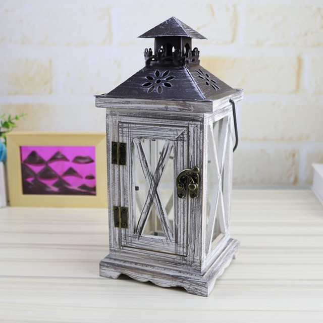 Lantern Candle Holder Moroccan Baul Windproof Candle Holder Ornaments Wooden Lights Candlestick Crafts Merry Christmas Gift 15YX