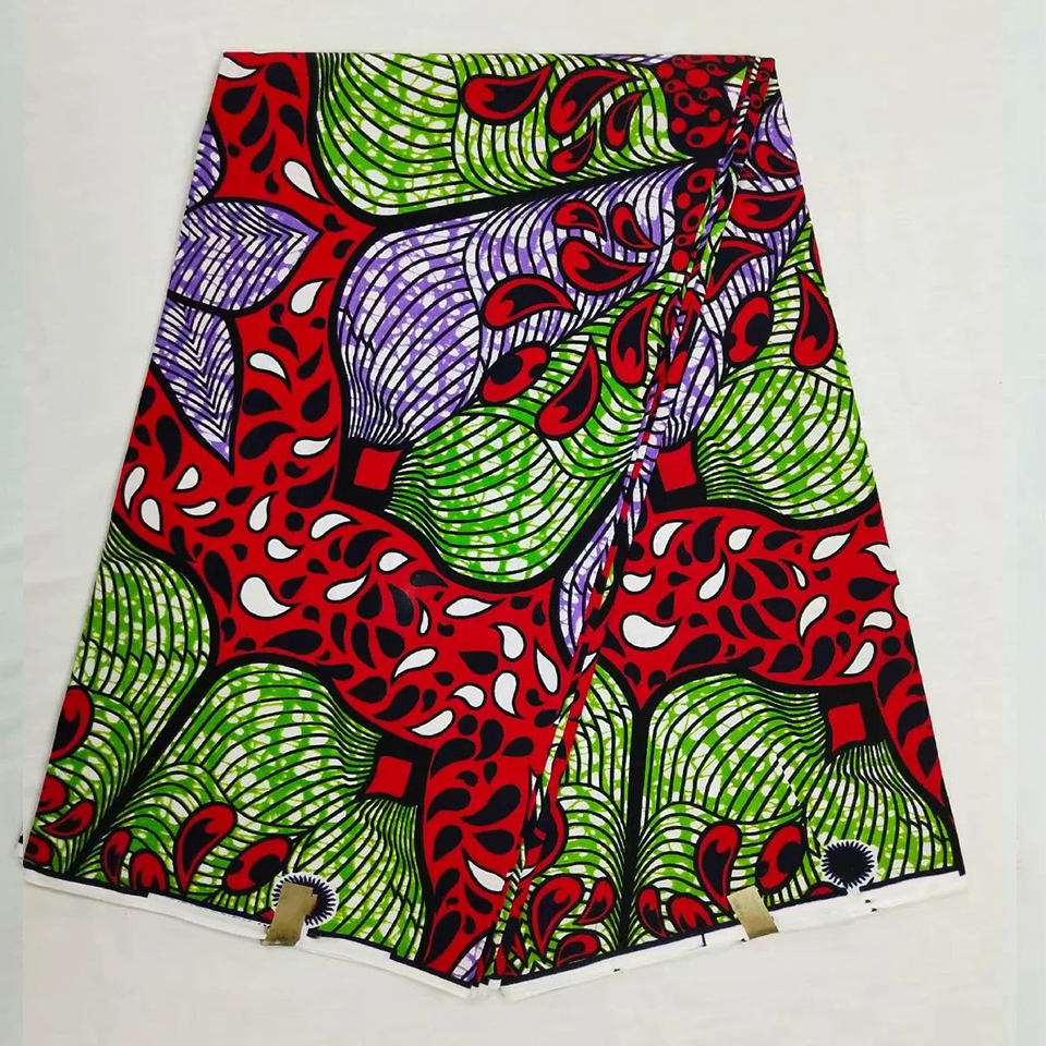 Apparel & Merchandise New Design Rose Java Style African Wax Print 100% Cotton Fabric For African Clothing 6 Yards Lot Naw-71