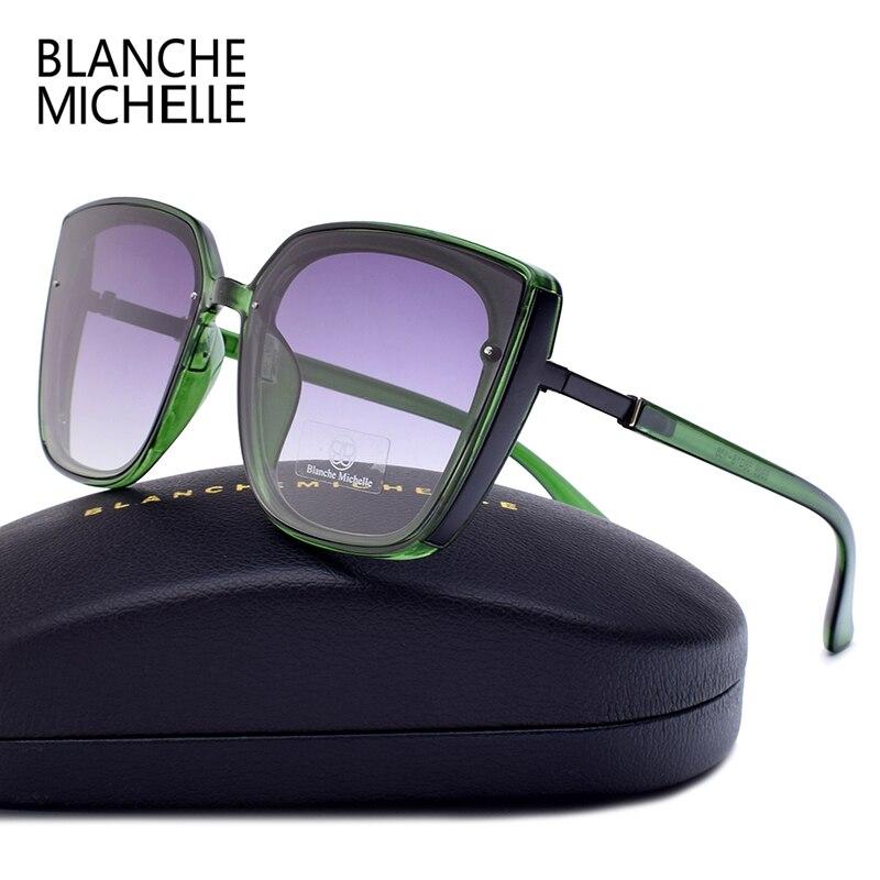 High Quality Cat Eye Polarized Sunglasses Women UV400 oculos Oversized Mirror Sun Glasses Woman 2020 Sunglass Brand With Box Women's Sunglasses  - AliExpress