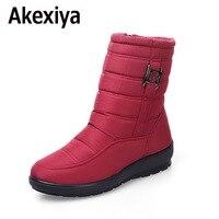 Akexiya Snow Boots 2017 Brand Women Winter Boots Mother Shoes Antiskid Waterproof Flexible Women Fashion Casual
