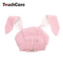 Pletená čepice pro miminka s králičími oušky