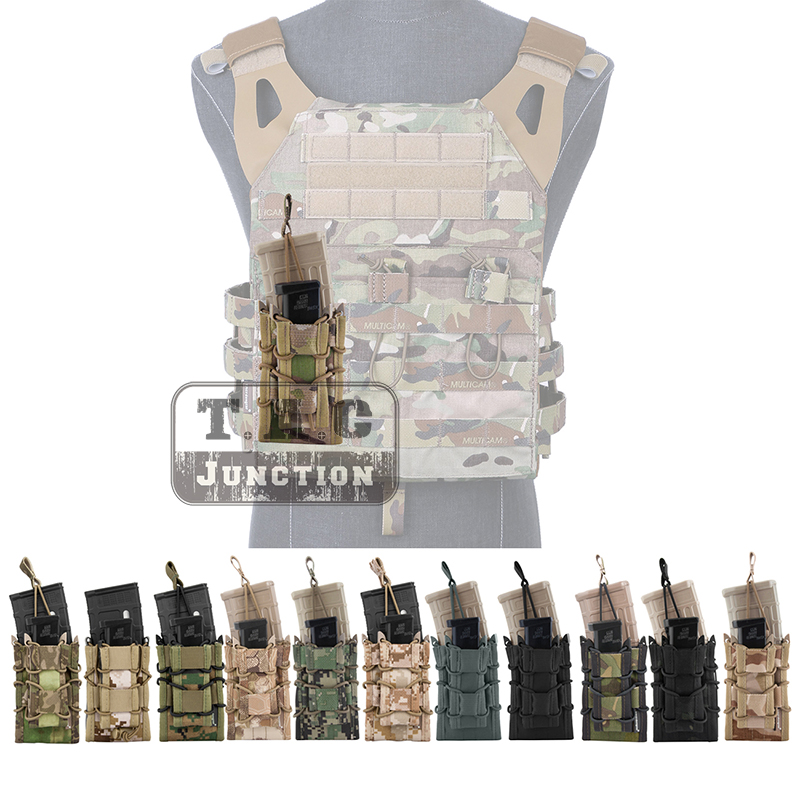 Emerson Double Layer Modular Magazine Pouch For 5.56 .223 & 9mm Emersongear MOLLE Mag Pouch Mag Carrier Camouflage Military-in Pouches from Sports & Entertainment