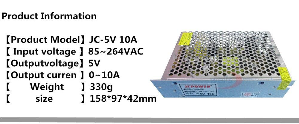 Transformador para fita de led, dc 5v,