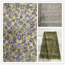 New Summer Print 100%Silk Chiffon Fabric For Women Dress 140cm Wide 6Momme Thin Georgette Fashion cloth DIY Sewing DSF26