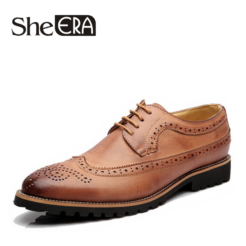 hot sale brand men oxford shoes lace up casual men leather shoes brogue shoes for men footwear. Black Bedroom Furniture Sets. Home Design Ideas
